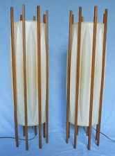Lanterns Lamps Interior Lit 2 Set Floor Vintage Pair 50s Modern Danish Decor