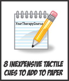 Your Therapy Source - www.YourTherapySource.com: Inexpensive Tactile Cues on Paper