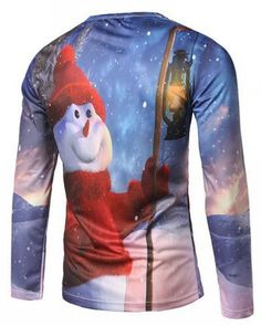 b8fb0ae6 Christmas Snowman Print Men T Shirt Cotton Tee Shirt Homme 2017 Casual Long  Sleeve Slim Fit Men T-shirt Harajuku Tops Tees