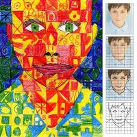 Art Projects for Kids: 5th grade. Chuck Close inspiration. Use child's picture as a base for the drawing.