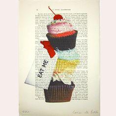 Il s'agît d'une œuvre 'mixed media': je combine l'imprimé d'un de mes tableaux originaux avec la peinture acrylique, peint à la main. C'est pour ce...