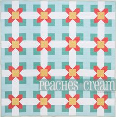 Peaches & Cream, and adorable quilt pattern from Cabin Fever: 20 Modern Log Cabin Quilts, by Natalia Bonner & Kathleen Whiting - pic only