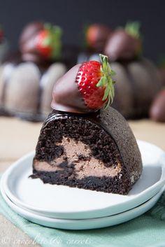 Chocolate Covered Strawberry Bundt Cake-4