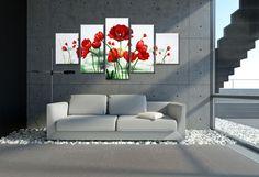 Bonito cuadro en lienzo Flores del campo / Mundo del arte - Artesanio