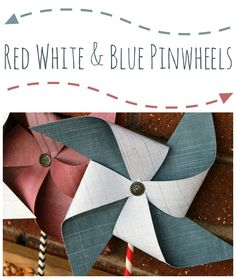 Red White and Blue Pinwheels Tutorial from www.summerscraps.com