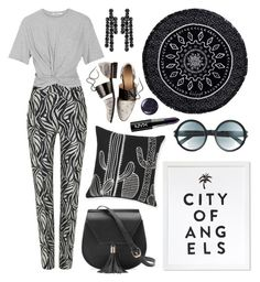 """""""City of Angels"""" by cherieaustin ❤ liked on Polyvore featuring Maticevski, T By Alexander Wang, Yoki, Simone Rocha, The Beach People, Tom Ford, NYX and Butter London"""