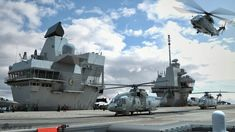 Images will be like the operation of the HMS Queen Elizabeth flight deck.