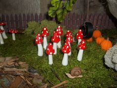 FREE Shipping 10 miniature mushrooms fairy by fairysmallthings