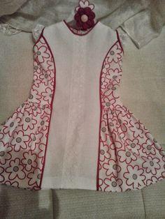 patrón y costura : vestido niña corte princesa, talle bajo, con vivos...