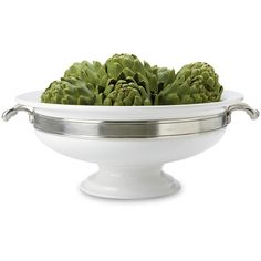 Match Pewter Convivio Round Centerpiece ($480) ❤ liked on Polyvore featuring home, kitchen & dining and serveware