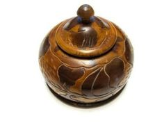 Hand Carved Tree Ring Trinket Box by sweetie2sweetie on Etsy, $9.99