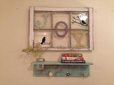 Image result for decorate with antique window panes