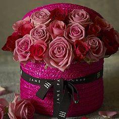 Rose Sorbet Hat Box (Jane Packer)