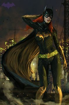 "ronfaureart: "" Batgirl Wacom Intuos 5 Adobe Photoshop CS6 Time ~6-7 hrs FB : www.facebook.com/uyarasomom """