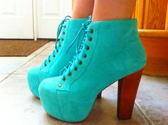 Turquoise shoes. Is it obvious I have an obsession with jeffrey cambell yet?