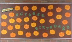 October Birthday Bulletin Board - Pumpkin Patch