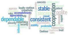 Commonly used words to describe the S-style person.