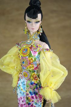 Creations, specializes in one-of-a-kind doll designs, formed by fashion designer, Mario Paglino and graphic art director, Gianni Grossi. Vintage Barbie Clothes, Vintage Dolls, Doll Clothes, Miss Pageant, Fashion Dolls, Fashion Outfits, Beautiful Barbie Dolls, Doll Parts, Barbie Collection