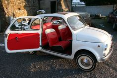 The perfect getaway vehicle: 1963 Fiat 500D in Bianco