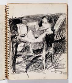Diebenkorn, Page 003 from Sketchbook # 23 [seated female figure]