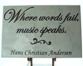 Music reveals the soul..