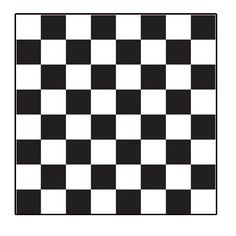 """Trying to find the easiest way to paint a checkerboard """"endzone"""" pattern on the cornhole boards."""