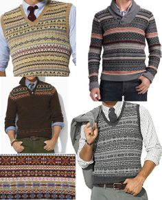 fair isle please. British Style Men, Tweed Run, Country Attire, Sharp Dressed Man, Gentleman Style, My Guy, Preppy Style, Men Dress, Knitwear