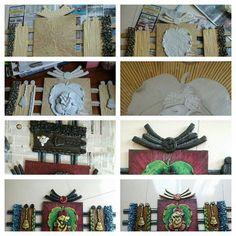 As Indian Crafts, Indian Art, Viria, Mural Art, Wall Murals, Hobbies And Crafts, Arts And Crafts, Clay Ganesha, 3d Wall Decor