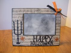 4 x 6 Musci Note Spider Halloween Frame / by TwoPreciousCreations, $15.00