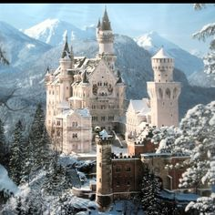 Neuschwanstein Castle - Bavaria, Germany This is a beautiful place. Description from pinterest.com. I searched for this on bing.com/images