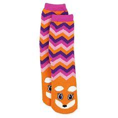 Girls Cozy Critter Slipper Socks Unicorn Cat Zebra Fox (Little Kid/Big Kid) Fox Slippers, Slipper Socks, Purple Emoji, Girl Emoji, Leopard Cat, Unicorn Cat, Sock Animals, Cute Socks, Kids Socks