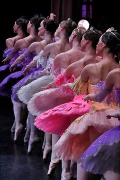 Color line up in the #French #Ballet...Beautiful.