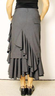 PDF sewing pattern skirt SASHA by OkiStyle on Etsy