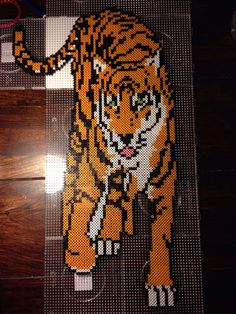 Tiger hama perler beads by Dorte Marker