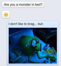 23 Foolproof Ways To Get Someone To Stop Talking To You .the monsters inc one is hiilarious