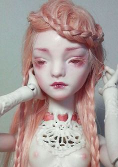 Marmite Sue __One of a kind, all parts fine porcelain ball jointed doll
