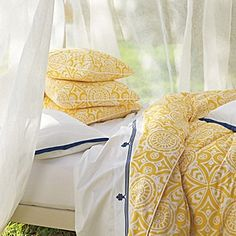 Marni Duvet - I'm not sure these Serena & Lily duvets will have the same effect when NOT placed in beautiful, sun-drenched California bedrooms.