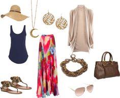 Maxi falda, ideal para tiempo de calor. encuentra más outfits en http://mipagina.1001consejos.com/