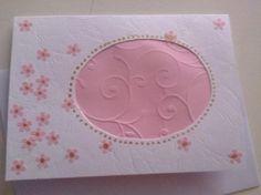 """Růžové kytičky s """"vokýnkem"""" Ručně vyrobené přáníčko/komplimentka pro každou příležitost. Obálka v ceně :-). Při nákupu nad 500,00 Kč poštovné zdarma!"""