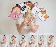 Фотобутафория забавные зверушки на палочке для детского праздника