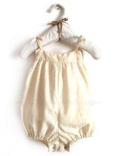 Pelele de bebé de plumeti -Tutorial y patrón gratis