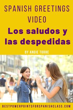 """My students love these videos! Los saludos y despedidas Video: Jessica, Melanie, Isaías, and Óscar meet each other and have a conversation. The video includes most vocabulary related to introductions and leave-taking including, """"¿Cómo se escribe?, mucho gusto, encantado, igualmente, ¿Cómo estás?, ¿Cómo está Ud.?, ¿Cómo están Uds.? hasta luego, nos vemos."""" etc. Also includes script and activities, and student handout. It's a great product to add to your high school Spanish Lesson Plans."""
