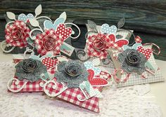 Valentine Pillow Boxes by strappystamper - Cards and Paper Crafts at Splitcoaststampers