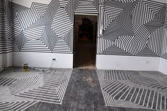 Buff Diss is a graffiti / street artist from Melbourne mostly using tape and wherever possible rollies too making wire-frame line spacing length specific maps, Wall Design, House Design, Tape Art, Skate Decks, Welding Art, Wire Frame, Postmodernism, Street Artists, Glyphs