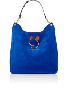 J.W.ANDERSON Pierce Large Hobo Bag. #j.w.anderson #bags #shoulder bags #suede #hobo #