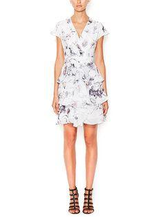 Gilt - Printed Faux Wrap Dress