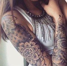 #ink #tattoo #sleeve #girl