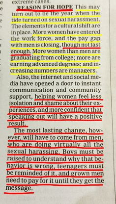 Done with the bad news; let's hear some good~ In an article about sexual harassment in regards to Weinstein, Spacey + O'Reilley, and society FINALLY becoming more accepting of survivors, the author left us with this note. We are a part of this, everyone. Slowly but surely, we are seeing change firsthand