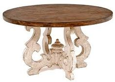 Tuscan Dining Table with Solid Wood Top | Woodland Creek Furniture