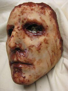 Skinned Horror Face Mask  Brian  by shoggothassembly on Etsy, $55.00
